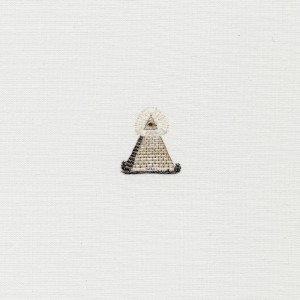 1:1 scale of the 'pyramid' on the reverse of the United States one-dollar bill