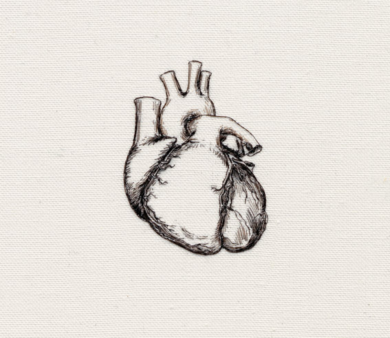 I am here and there (heart detail)